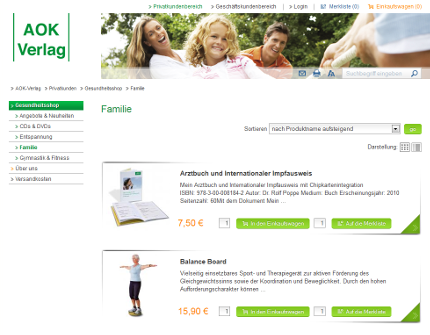 AOK-Verlag Privatkunden