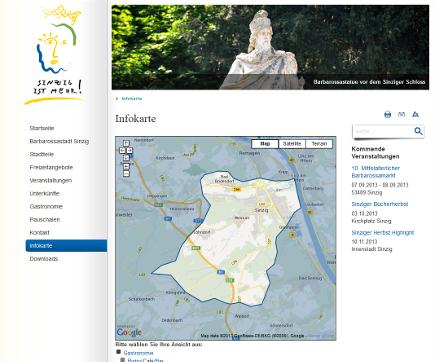 Tourist-Service-Sinzig Infokarte