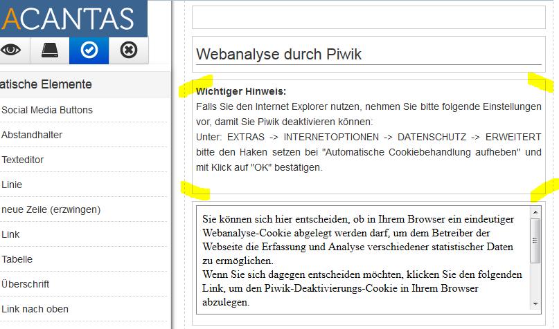 Webanalyse mit Piwik