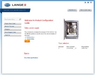 Vertriebstool: Online-Konfigurator HACH LANGE